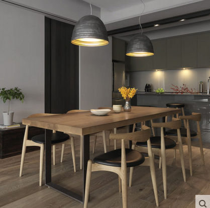 Твердая деревянная обедая столы и стулья сочетание американский LOFT ретро железо прямоугольник войти стол простой кофе стол письменный стол
