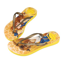 2015 new products listed in 4123328 summer female children's shoes Snow White animated cartoon flip-flops