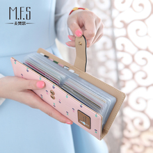 Card bag for women's multi card space rural small fresh Korean lovely personality simple business card holder large capacity