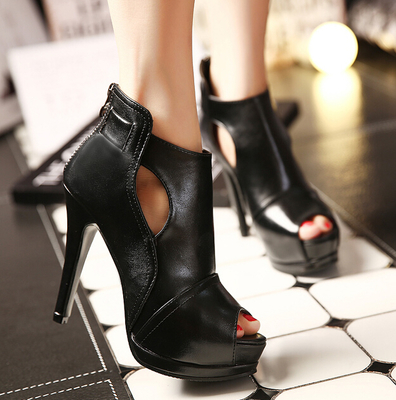 Fashion heels fall ultra high heels Rome style fish mouth sweet thin with women's shoes's main photo