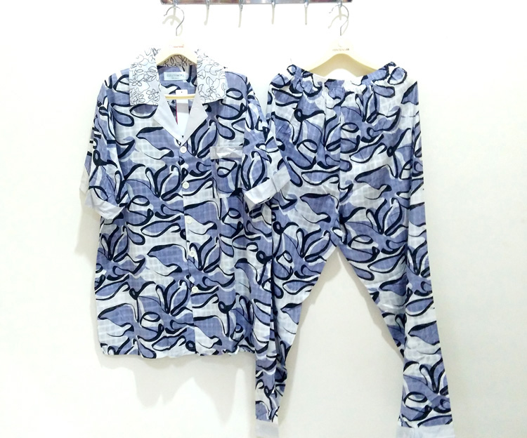 升派男士睡衣夏季�棉短袖�L�加大�a夏天全棉薄款青年家居服套�b