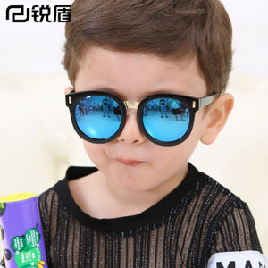 锐盾儿童太阳镜时尚炫彩墨镜个性潮流款眼镜男孩女孩学生宝宝大框