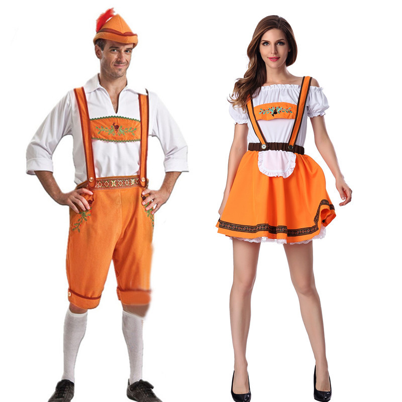 Halloween Carnival Party bar DS German Beer Festival costume lovers mens beer costume maids dress