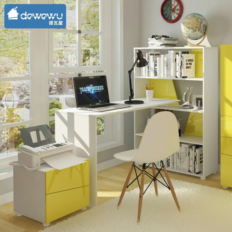 Взять плитка дом мода письменный стол книжный шкаф сочетание рабочий стол компьютерный стол сиамский письменный стол кабинет простой современный стол