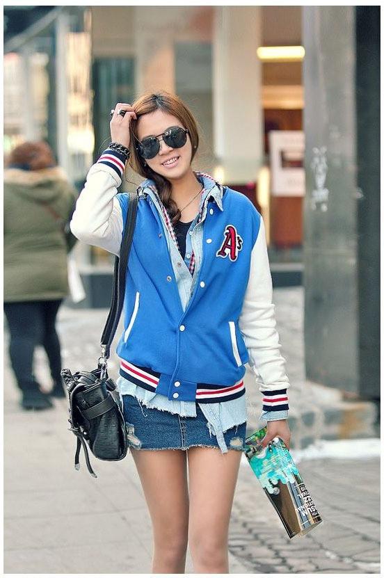 2014 новых падение одежды шерсти пальто женщин письмо свитер подпружиненный Корейский бейсбол равномерное женщин Южной Кореи бейсбол рубашка