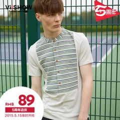 Viishow2015 summer dress new style Polo men short sleeve stripe pattern short sleeve polo shirts simple Paul Chao
