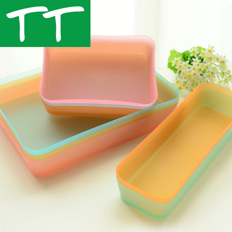 收纳盒文具塑料小号长方形厨房餐具冰箱收纳抽屉整理储物盒整理盒