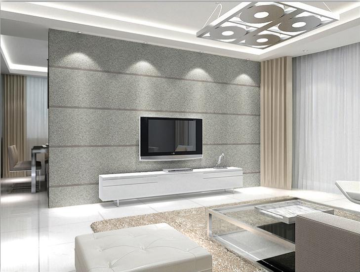 Современный простой серый телевидение стена фон песчаник стена бумага тень внимание стена толстый гостиная диван фон обои