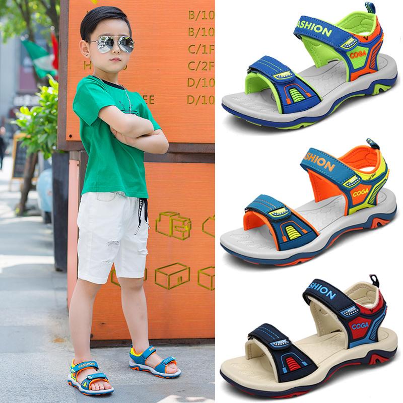 Мальчиков сандалии 2017 новый корейский лето в больших детей студент ребенок обувь мальчик ребенок песчаный пляж обувь волна