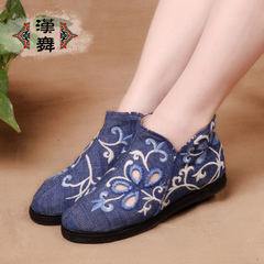 Han Hi-cut shoes dance fall-layer breathable embroidered shoes casual retro folk style women's shoes at the end of vine sweet