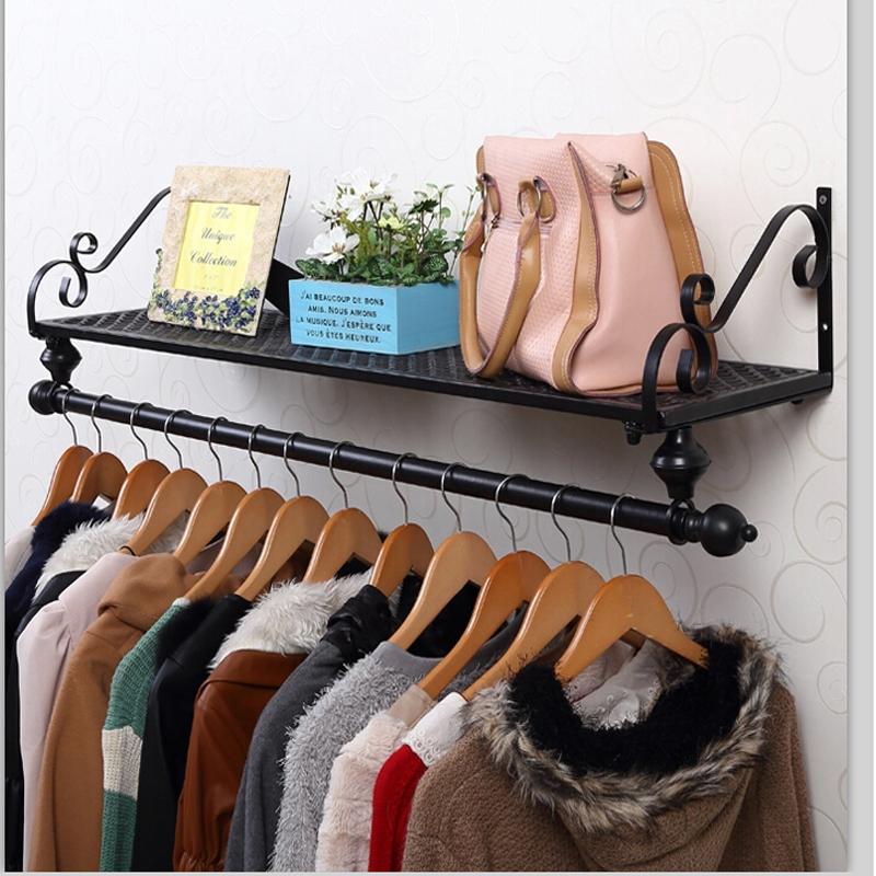 服裝店展示架貨架上牆掛架賣衣服架子衣架掛衣架牆壁 鐵架