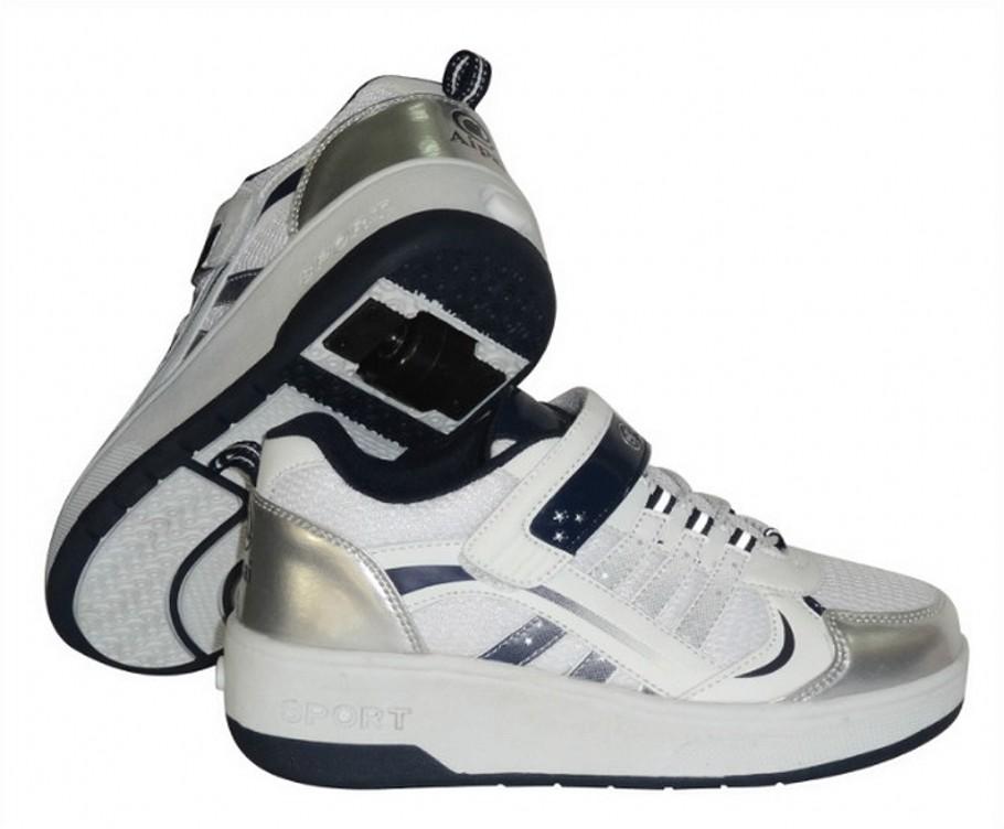 Специальная сетка дышащей аутентичные Heelys Роликовая обувь для мальчиков и девочек Скрытые кнопки автоматически