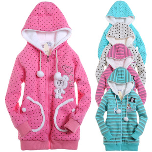 Girls cotton padded jacket Korean version of the new 2015 winter children s clothing jacket big virgin plus thick velvet winter 90