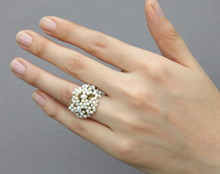 [the carp in the original design manual thorns flowers 2 mm natural pearl manual customize ring]