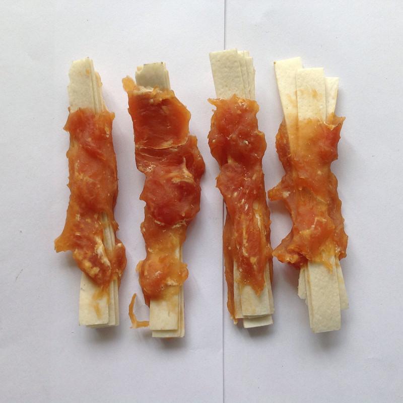 厂家直销宠物狗狗零食鸡肉鳕鱼卷340G泰迪金毛哈士奇萨摩训练零食图片