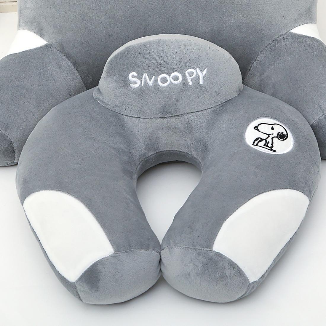 史努比卡通U型枕頭護頸枕保健頸椎枕午睡辦公室枕旅行護脖子靠枕