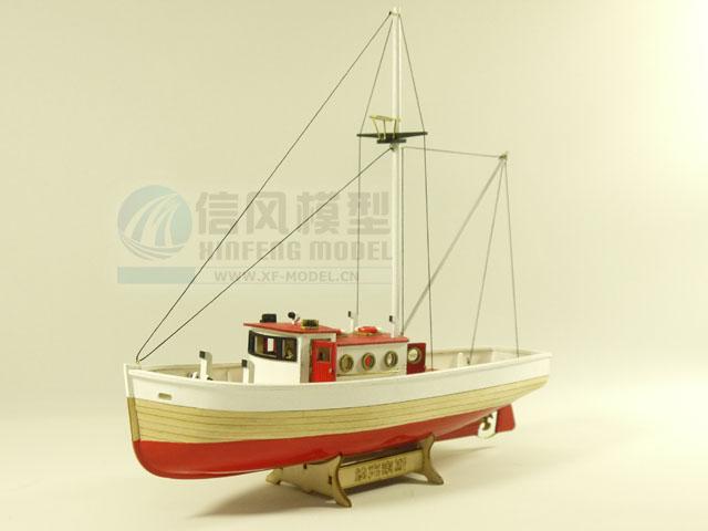 正品 古典木质帆船拼装套材 信风模型 新版 纳克索斯小号 DIY玩具
