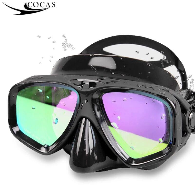 潜水镜浮潜三宝全干式套装成人面罩游泳眼镜防雾近视潜水游泳装备
