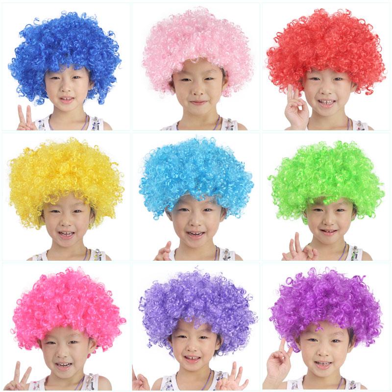 Яркий детский сад ребенок производительность парик клоун парик головной убор 4-6 лет специальный цвет парик взрыв голову