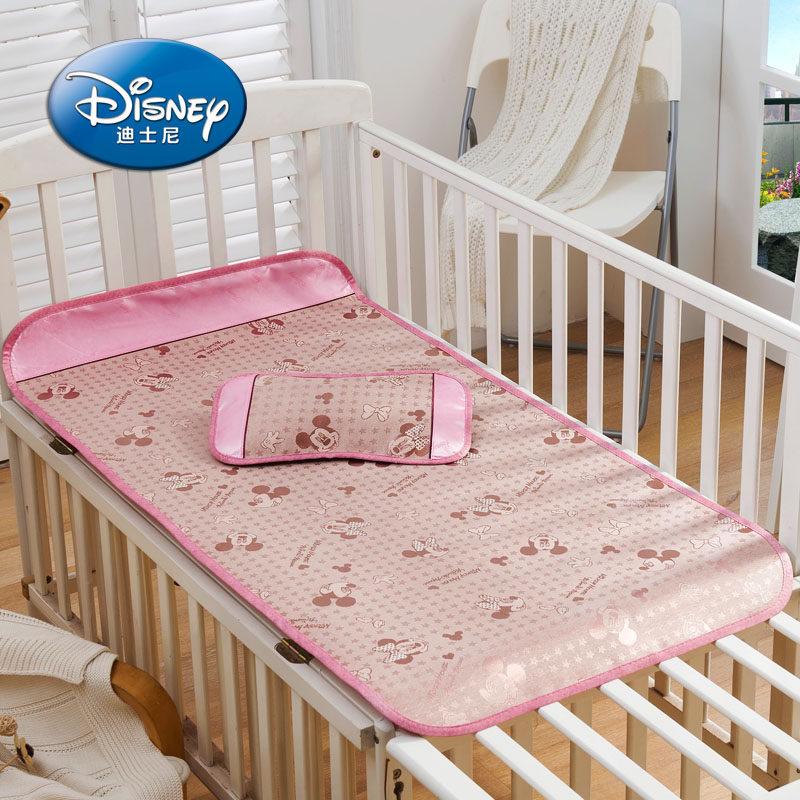 迪士尼 兒童冰絲涼席寶寶嬰兒床涼席學生單人幼兒園卡通童床涼席