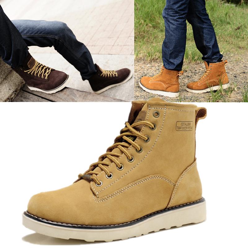 Корейская версия подлинной Сапоги ковбойские сапоги для мужчин осень/зима Англии Гао Bangnan Мартин сапоги обувь моды мужчин, что случайные кожаные сапоги