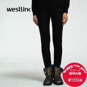Westlink/West New 2015 winter and cashmere warm spell skin slim slimming black women's trousers skinny jeans