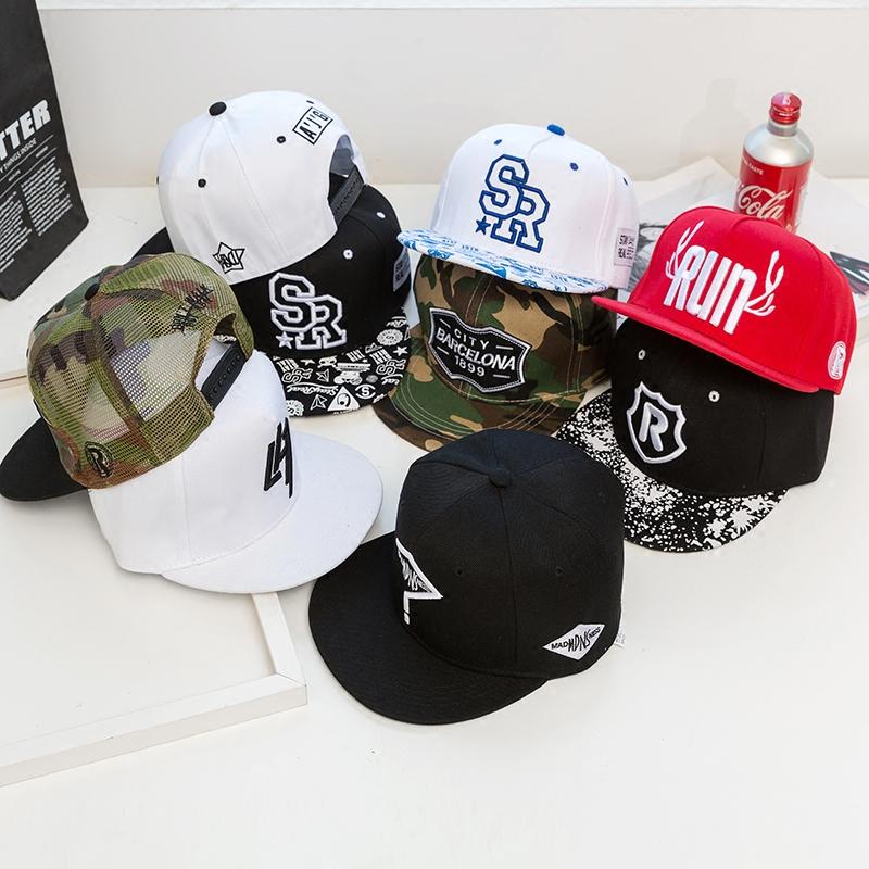 跑男同款嘻哈帽RUN网眼透气平檐帽男女街头时尚棒球帽防嗮遮阳帽