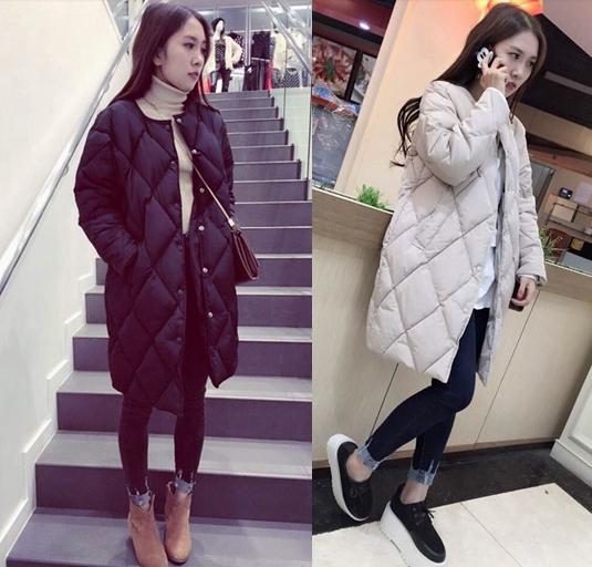 Куртка женщина 2016 новый плюс размер женщин одежда длинные diamond решетки в корейской версии проложенные хлопка вниз Пальто зимнее пальто