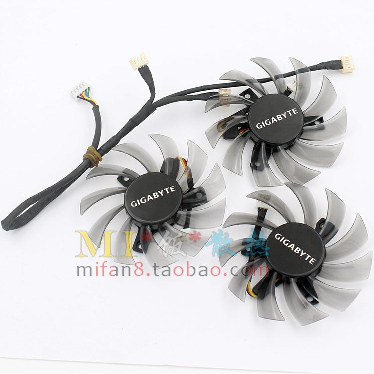 Гигабайт гигабайт N465 GTX670 GTX580 560ti видеокарта вентилятора T128010SM