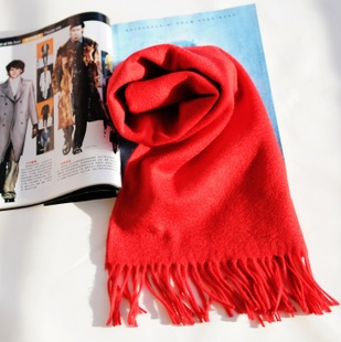 Banglei 2015 British men s classic wool scarves solid color scarf red animal year red gift