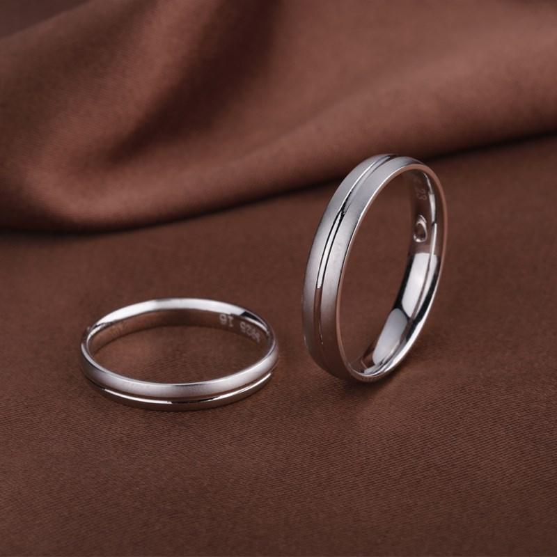 925银男女士对戒首饰品情侣戒指