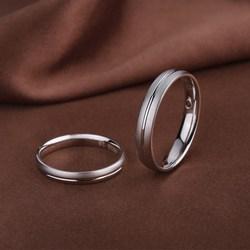 925银情侣戒指男女士对戒首饰品日韩版指环对尾婚戒简约刻字礼物