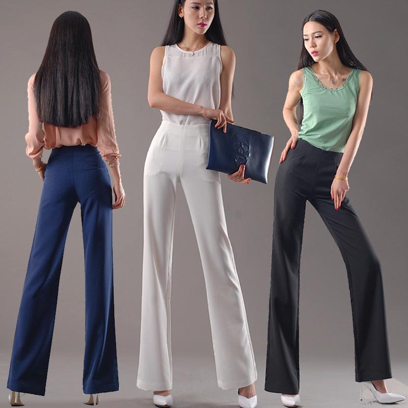 垂坠感阔腿裤女直筒裤高腰侧拉链长裤子工装裤宽松西裤黑色休闲裤