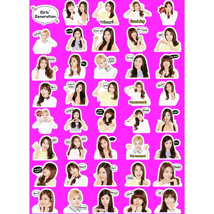 少女时代 Girls' Generation 真人表情手机壳笔记本防水皮纹贴纸