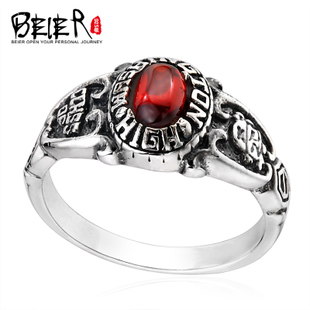 925 silver skull rings ruby ring Thai Silver Men s personality tide male male tail ring fashion jewelry