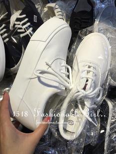 包郵 百搭推薦款 帆布低幫松糕厚底內增高樂福平底小白鞋 2色