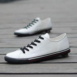 春季男士低帮帆布鞋男韩版潮鞋系带日常休闲鞋子布鞋男透气板鞋单