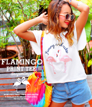 Feifei is pure and fresh and sweet summer wear the new Japanese lotus leaf sleeve soft of flamingos loose cotton T-shirt short sleeve dress