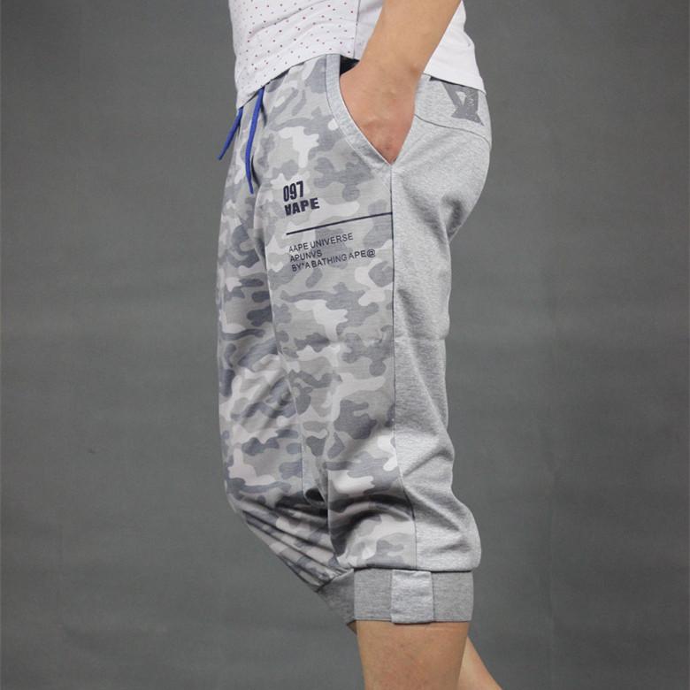 XL мужские случайные обрезанные брюки и удобрения летом спортивные брюки 7 Харлан брюки хип-хоп шорты приливные