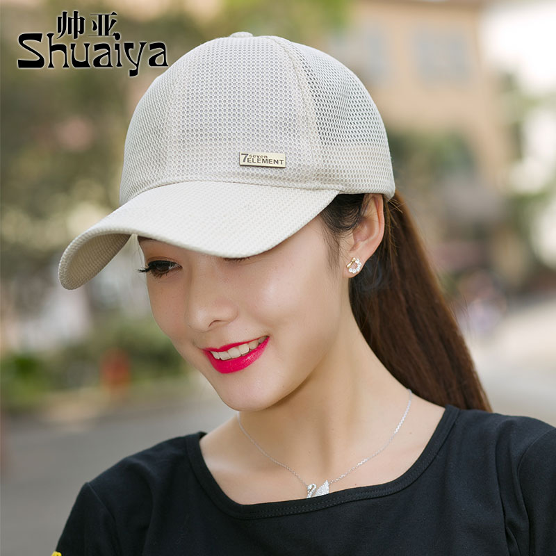 Mens and womens summer sun hat ventilating cap baseball cap outdoor sports net cap leisure square dance hat