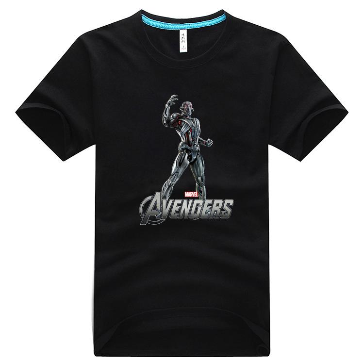 Spring / summer 2017 Avengers League 2 T-shirt Iron Man US captain animation T-shirt short sleeve robot new excellent