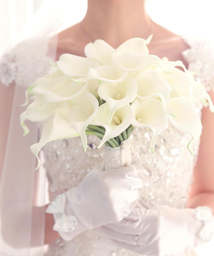 Пу искусственные цветы свадебные цветы невест букеты Калла Лили 30