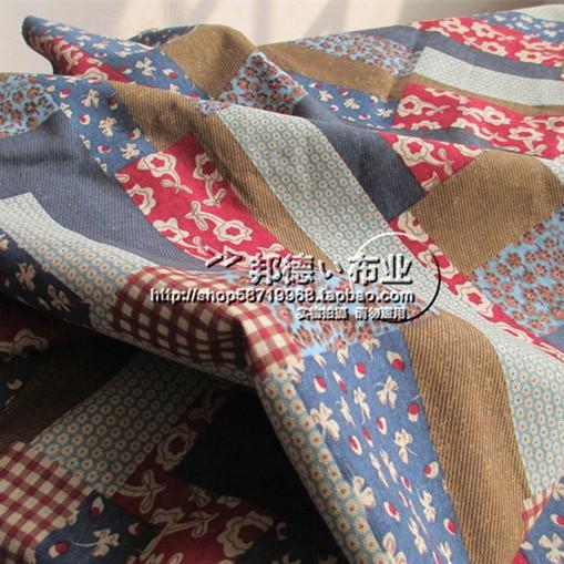 Хлопковые и льняные ткани страна стиль цветочные искусственной пэчворк печати хлопок плед