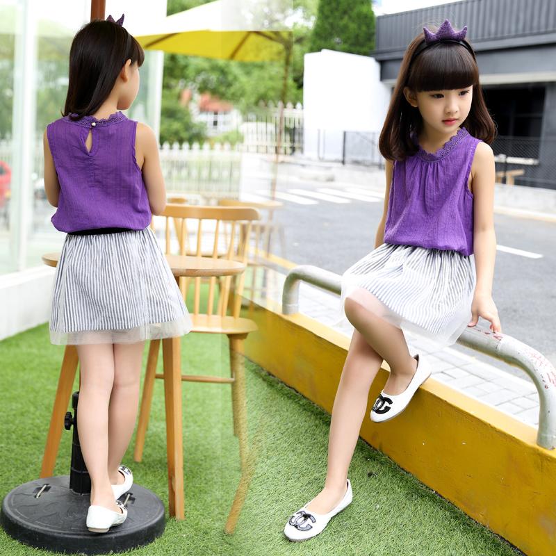 Одежда Принцесса платья для девочек и корейских девочек в летние платья летние платья Детская мода случайных платье костюмы платья