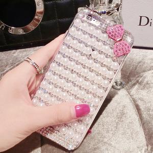 日韩iPhone6splus手机壳珍珠水钻 苹果6plus手机壳潮女款5.5创意