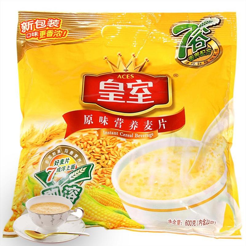 皇室即食麥片 原味即溶營養麥片600克 穀物早餐衝飲