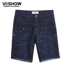 Viishow2015 summer dress new style jeans Pant dark man in the streets of Europe and the Cowboys five pants trousers