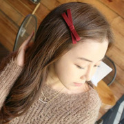Cool na Han provided jewelry simple bow fabric small hairpin clip the side clip handmade fresh 6026