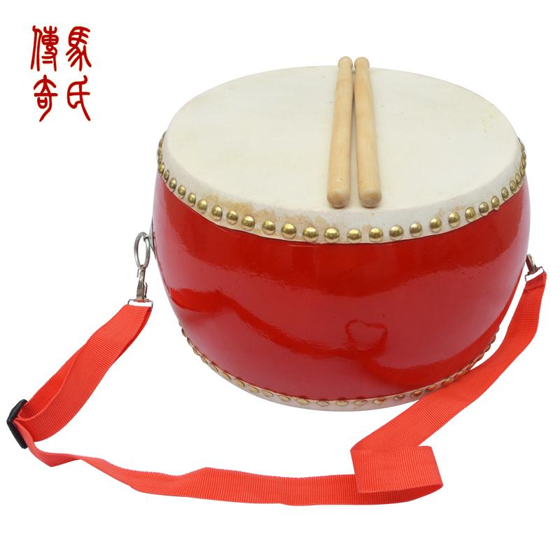 马氏传奇8寸牛皮堂鼓优质头层牛皮小堂鼓三句半乐器口面直径约26