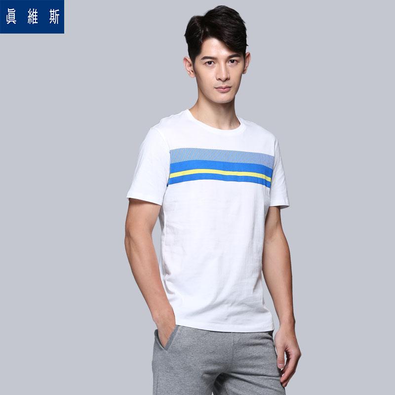 真維斯短袖T恤 2016夏裝 男士圓領純棉體恤 潮流 男裝
